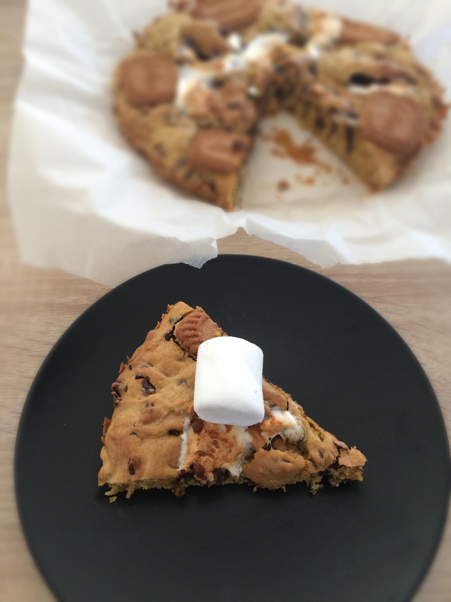 Cookie géant aux chamallows & spéculoos - Cooktravelbook